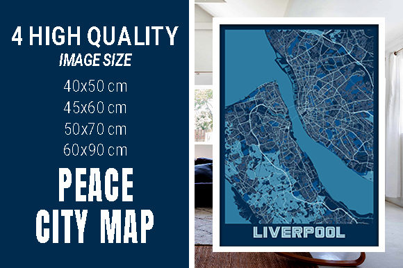 Liverpool - United Kingdom Peace City Graphic Photos By pacitymap