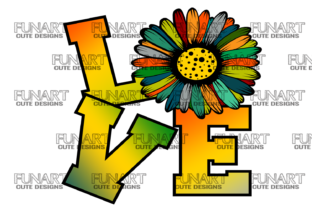 Love / Sunflower / Cool Design Graphic Crafts By Fundesings