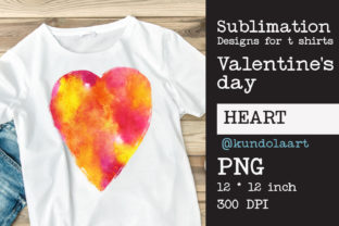 Print on Demand: Love Watercolor Design for Sublimation O Graphic Print Templates By KundolaArt