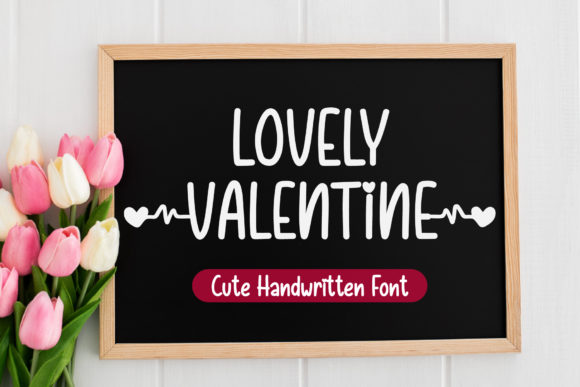 Print on Demand: Lovely Valentine Manuscrita Fuente Por AquariiD