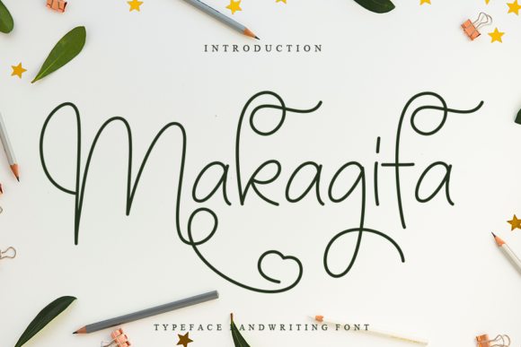Print on Demand: Makagifa Script & Handwritten Font By Creativewhitee