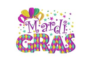 Mardi Gras Banner Holidays & Celebrations Embroidery Design By BabyNucci Embroidery Designs