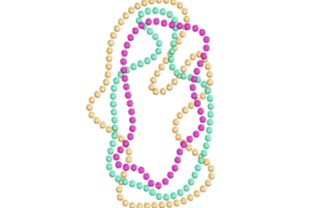 Mardi Gras Beads Holidays & Celebrations Embroidery Design By BabyNucci Embroidery Designs