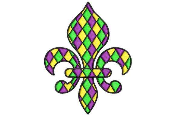 Mardi Gras Fleur De Lis Holidays & Celebrations Embroidery Design By BabyNucci Embroidery Designs