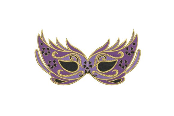 Mardi Gras Mask Holidays & Celebrations Embroidery Design By BabyNucci Embroidery Designs