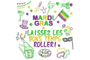 Mardi Gras Symbols Holidays & Celebrations Embroidery Design By BabyNucci Embroidery Designs