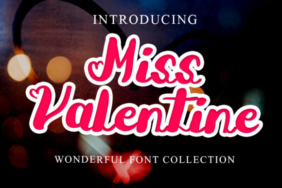 Print on Demand: Miss Valentine Script & Handwritten Font By mizanstudio
