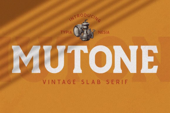 Print on Demand: Mutone Display Font By Typia Nesia