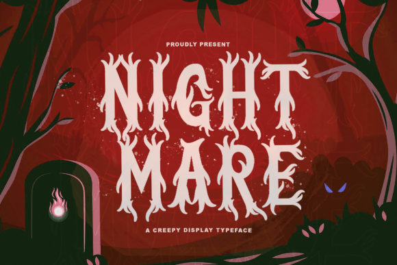 Print on Demand: Nightmare Display Font By StringLabs