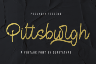 Print on Demand: Pitttsburgh Script & Handwritten Font By Guritatype