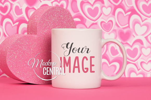 Pretty Valentine's Day Coffee Cup Mockup Graphic Product Mockups By Mockup Central
