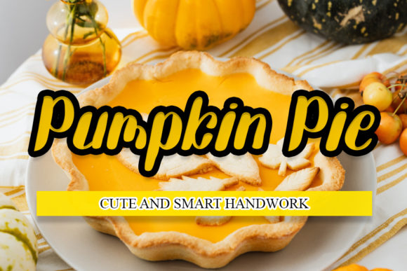 Print on Demand: Pumpkin Pie Script & Handwritten Font By mizanstudio