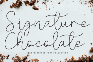 Print on Demand: Signature Chocolate Script & Handwritten Font By Creativewhitee