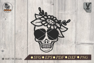 Skull Girl with Flower Graphic Crafts By RIZUKI Store