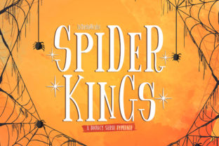 Print on Demand: Spider King Display Font By StringLabs
