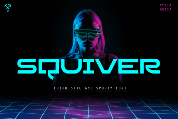 Print on Demand: Squiver Sans Serif Font By Typia Nesia