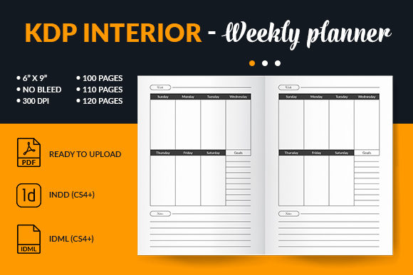 Print on Demand: Student Weekly Planner Interior for Kdp Graphic KDP Interiors By mstartwork