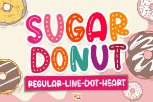 Print on Demand: Sugar Donut Display Font By dmletter31