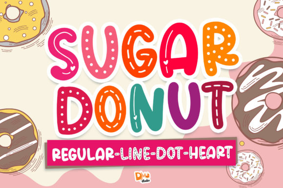 Print on Demand: Sugar Donut Display Schriftarten von dmletter31