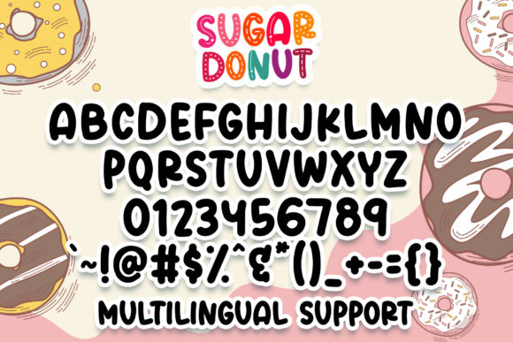 Sugar Donut Font Downloadable Digital File