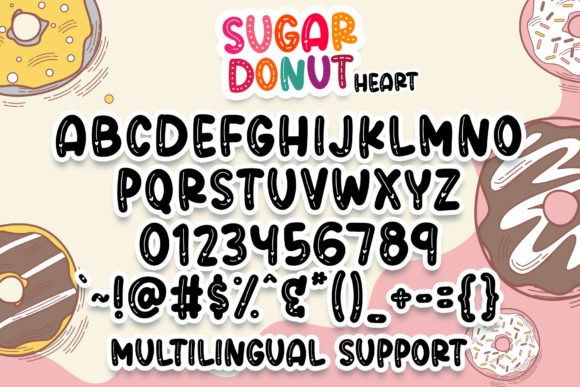 Sugar Donut Font Popular Design