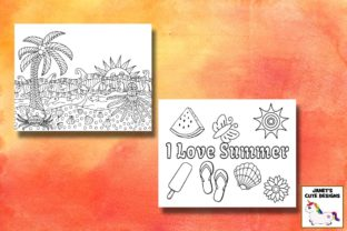 Print on Demand: Summer Coloring Pages Graphic Coloring Pages & Books By Janet's Cute Designs 2