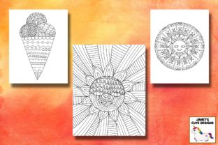 Print on Demand: Summer Coloring Pages Graphic Coloring Pages & Books By Janet's Cute Designs 3