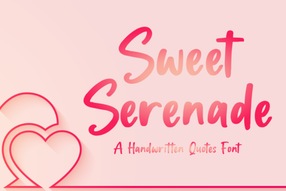 Print on Demand: Sweet Serenade Display Font By mfikryalif
