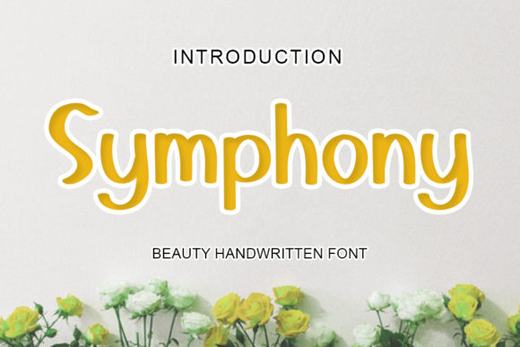 Print on Demand: Symphony Script & Handwritten Font By mizanstudio