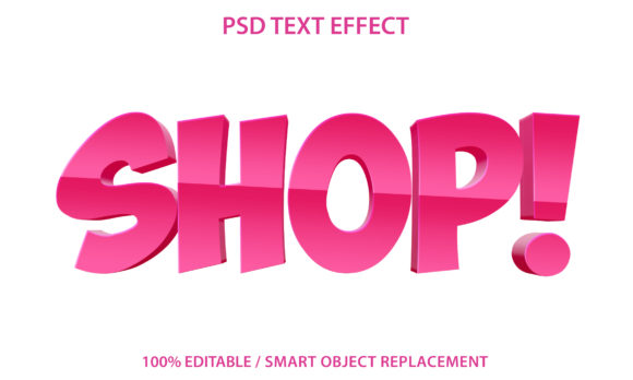 Text Effect Blue Shop Premium Graphic Graphic Templates By yosiduck