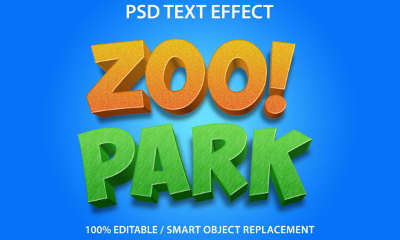 Text Effect Zoo Park Premium Graphic Graphic Templates By yosiduck
