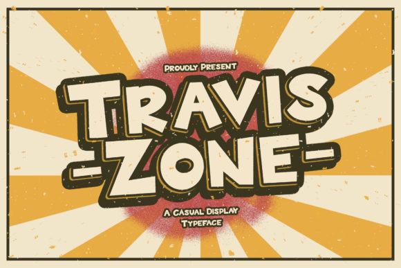 Print on Demand: Travis Zone Display Font By StringLabs