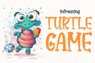 Print on Demand: Turtle Game Display Font By artyfontsstudio