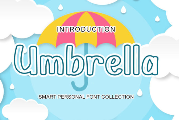Print on Demand: Umbrella Display Font By mizanstudio