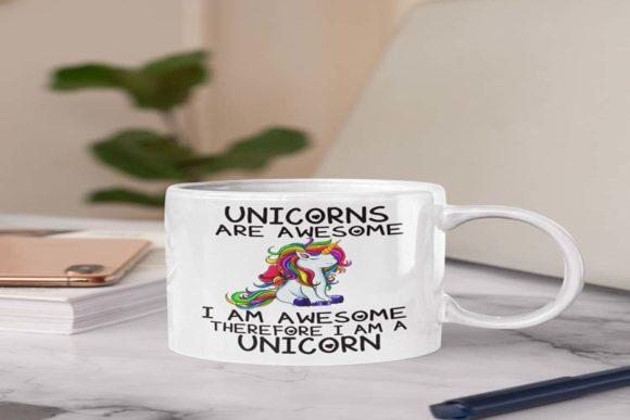 Unicorns Are Awesome , PNG File ,Digital Graphic Illustrations By Fundesings