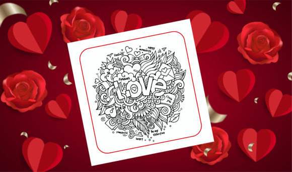 Print on Demand: Valentine Mandala Coloring Book - KDP Graphic Coloring Pages & Books Adults By KDP_Interior_101