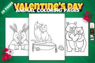 Print on Demand: Valentine's Day Animal Coloring Pages Graphic Coloring Pages & Books Kids By Kristy Coloring