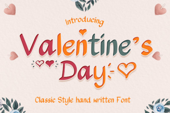 Print on Demand: Valentine's Day Script & Handwritten Font By numnim