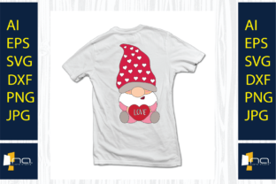 Print on Demand: Valentine's Day Gnome Heart, SVG Design Graphic Illustrations By Na Punya Studio