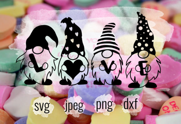 Valentines Day Love Gnomes SVG Graphic Crafts By Kaela Batson Designs