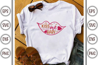 Print on Demand: Valentine's Day SVG Design, Kiss Me Baby Graphic Print Templates By GraphicsBooth