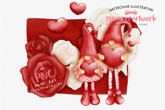 Valentines Gnome with Love Letter Graphic Crafts By Chonnieartwork