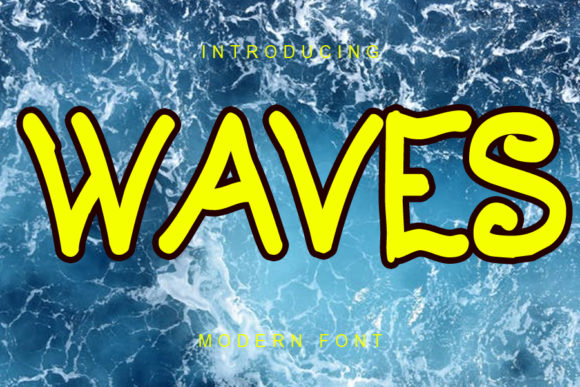 Print on Demand: Waves Script & Handwritten Font By ABBAsalam
