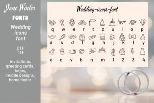 Print on Demand: Wedding Icons Dingbats Font By Jane Winter