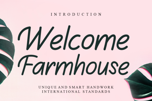 Print on Demand: Welcome Farmhouse Script & Handwritten Font By Creativewhitee