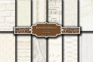 Print on Demand: White Digital Paper Graphic Backgrounds By retrowalldecor