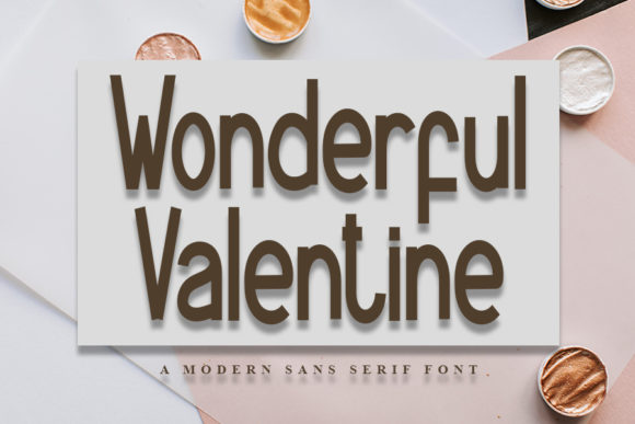 Print on Demand: Wonderful Valentine Sans Serif Font By Inermedia STUDIO