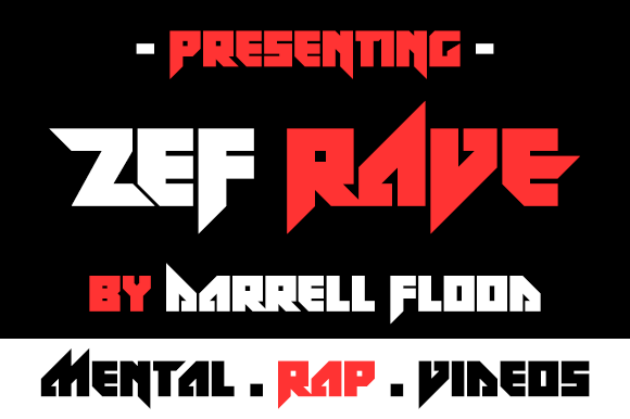Print on Demand: Zef Rave Display Font By Dadiomouse