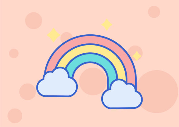 Rainbow Graphic Icons By keyclook123
