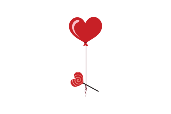 Print on Demand: Valentines Love Heart Baloon Svg Graphic Illustrations By Genta Illustration Studio